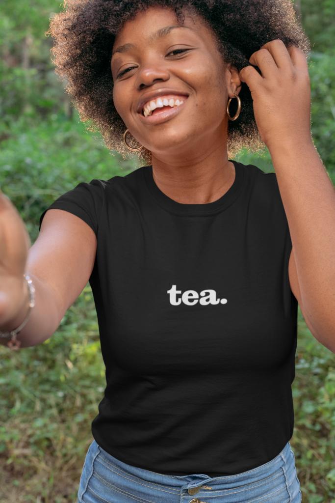 tea social media slang funny cute t-shirt